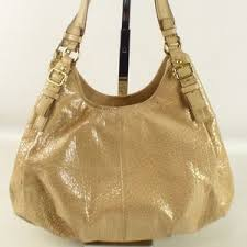 Coach Bags - Coach Madison Maggie Embossed Gold Hobo