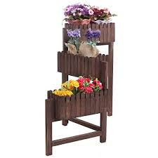Flower Display Stand For Sale 100 Tier Country Rustic Folding Wood Planter Box Flower Plant 16