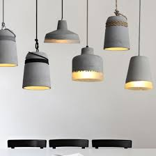 large cement material concrete pendant light nz