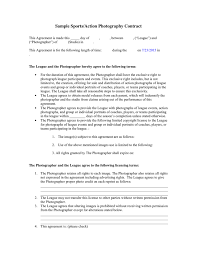 Sports/action Photography Contract In Word And Pdf Formats