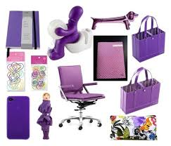stylish purple office supplies by karleitan liked on polyvore featuring clips and office