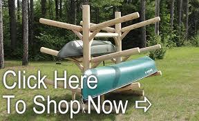 log kayak canoe racks for