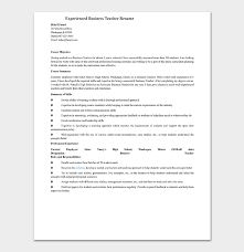 It Teacher Resume Teacher Resume Template 19 Samples Formats