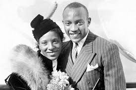 Jesse Owens and his wife, Minnie Ruth Solomon - Historical Snapshots