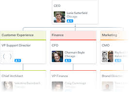 Color Coded Org Chart Design With Departments Org Charts