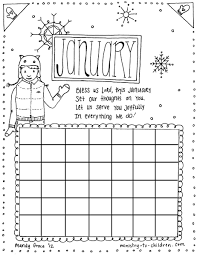 Free january coloring page printable. January Coloring Page Calendar