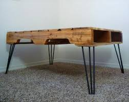 Chevron Pallet Coffee Table With Hairpin LegsPallet Coffee Table With Hairpin Legs