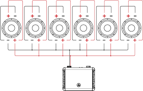 dual voice coil (dvc) wiring tutorial jl audio help center wiring diagram subwoofers six dual voice coil speakers in parallel parallel