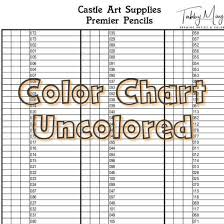 Castle Art Supplies Premium Colored Pencils Color Chart 120 Colors
