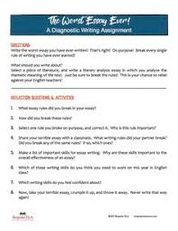 essay essaywriting helpme essay corrector online  the worst essay of your life a unique approach to assessing writing at the beginning of the school year