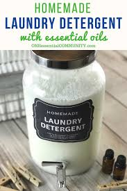 homemade he laundry detergent recipe with essential oils natural non toxic