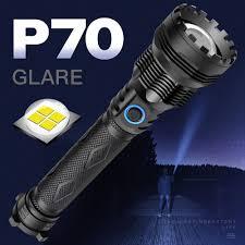 Đèn pin mới XHP70 Sạc USB 26650 Đèn LED ngoài trời đa chức năng Chiếu sáng  chói Nhôm Đèn pin Chói đèn pin Bán tại chỗ giảm chỉ còn 718,714 đ