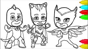 Home › coloring sheets › minions. Pj Masks Minions Coloring Pages Colouring Pages For Kids With Colored Markers Youtube