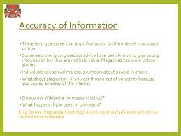 moral social and ethical issues associated the internet  8 accuracy of information