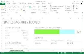 Microsoft Monthly Budget Template Office Free Personal For Excel ...