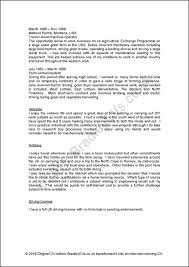 Cv Writing Examples Personal Profile Sample Cvs Uk And International Designed By Bradley Cvs