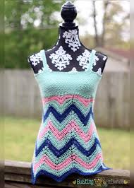 Crochet Tank Top Pattern Mesmerizing Women's Crochet Chevron Tank Top AllFreeCrochet