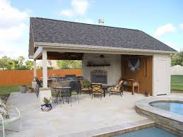pool house kitchen. View In Gallery Outdoor Kitchen Area With Pool House