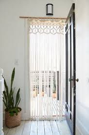 Lower Half Window Treatments Front Door Curtain Replace Sliding ...