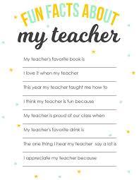 best teacher questionnaire ideas preschool teacher appreciation printable surprise your child s teacher this fun facts about my teacher questionnaire