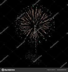 夜花火黒の背景に異なる色 ストック写真 Kostafly 162181712