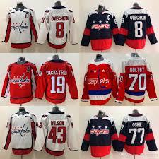 8 Alex Ovechkin Jersey Washington Capitals 19 Nicklas Backstrom 70 Braden Holtby 43 Tom Wilson 77 T J Oshie Hockey Jerseys
