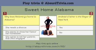 Sweet Home Alabama Movie Quotes New Trivia Quiz Sweet Home Alabama