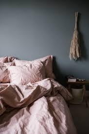 pink bed linen dusty pink bedroom