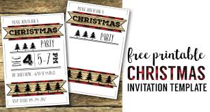 Easy Invitation Templates Christmas Party Invitation Templates Free Printable Paper