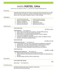 Home Health Care Resume Best Home Health Aide Resume Example Livecareer