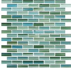 rip curl green and blue hand painted glass mosaic subway tile sample