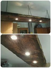 alter lighting. Lampe Aus Alter Holzbohle, Küche Lighting U