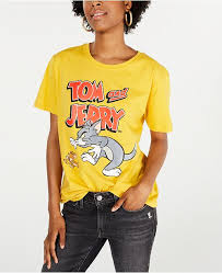 Juniors Cotton Tom And Jerry Graphic T Shirt