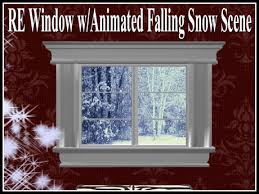 Animated Snow Scenes Second Life Marketplace Re Window W Animated Falling Snow