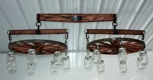 wagon wheel chandelier metal
