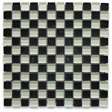 12 x12 white and black glass square mosaic tile size 7 8 transitional wall and floor tile by stone center