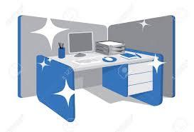 office desk workstation. Exellent Workstation Clean Office Desk  Workstation Stock Vector  19177784 On Office Desk Workstation