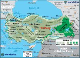 turkey physical features.  Features Map Of Turkey With Physical Features I