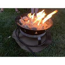 Heatshield Products Deck Armor Fire Pit And Deck Heat Shield Round 24 In Dia Withstands 1200 F Constant Fps002 The Home Depot