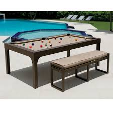 Pool table that is a dining table Combination The Outdoor Billiards To Dining Table Robertson Billiards Outdoor Billiards To Dining Table Hammacher Schlemmer
