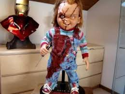 life size chucky doll sideshow life size chucky replica youtube