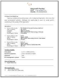 Hr Fresher Resume Format Cover Letter Samples For Resumes Internship