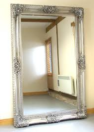 silver floor mirror. Extra Large Ornate Floor Mirror | Decoration With Regard To Mirrors (Image Silver