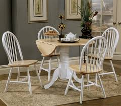 country dining room set. Country Kitchen Table And Chairs Damen Dual Tone Dining Set With Drop Leaf Pedestal Round Room T