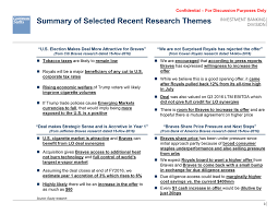 summary of selected recent research themes investment banking division u s election makes deal more attractive for braves from citi braves research