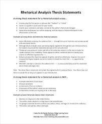 Rhetorical Analysis Thesis Statements How To Write A Rhetorical