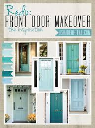 redo front door inspiration teal aqua blue front doors