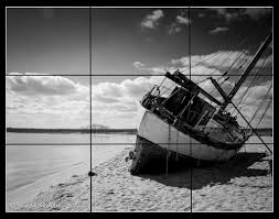 rule of thirds photography black and white. Shipwrecked-Grid Rule Of Thirds Photography Black And White N