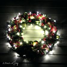 Outdoor Lighted Wreath Beauteous Led Wreath Outdoor Lighted Garland Canada Happydriver Cordless