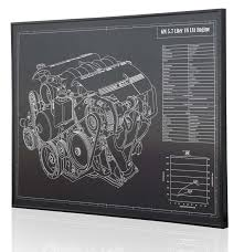 papercraft v8 engine diagram wiring diagram list gm 5 7 l ls1 v8 engine corvette laser engraved wall art papercraft v8 engine diagram